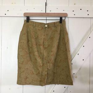 Vintage GAP Floral Pocket Pencil Skirt